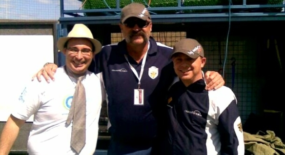 Phil Yew, Merv Hughes & David Boon run the Diwali Cricket Match.